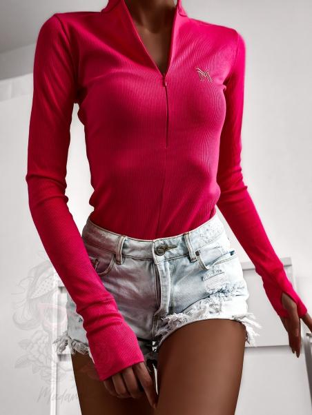 Body z zamkiem LM Strip różowe