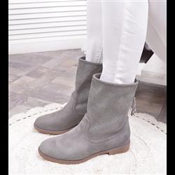 Czarne skórzane sneakersy botki damskie rzepy