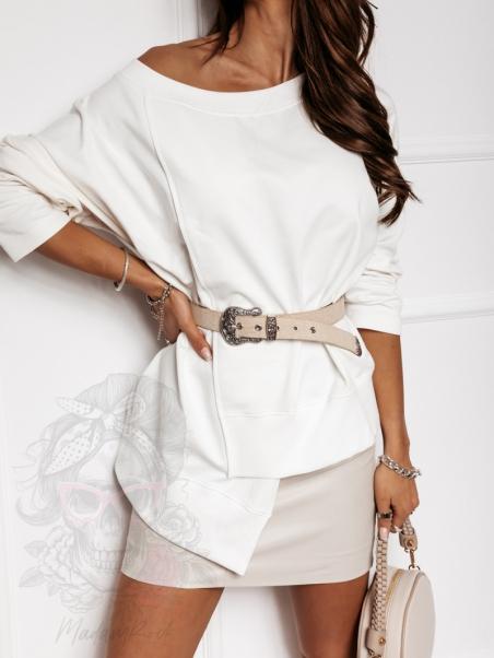 Bluza asymetryczna TuuMe ecru