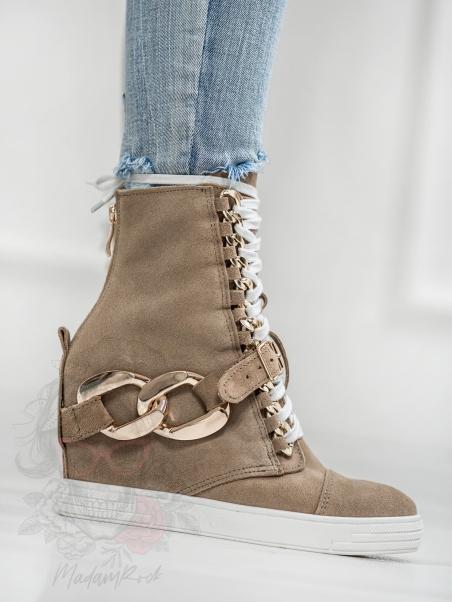 Sneakersy zamszowe z...