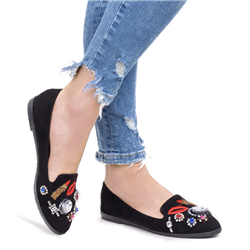 Czarne długie elastyczne kozaki damskie za kolano