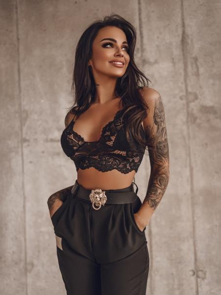 Top koronkowy Sexy Top czarny