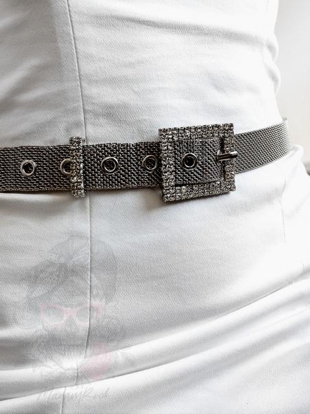 Pasek ozdobny Barco srebrny