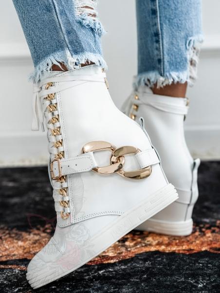Sneakersy skórzane z...