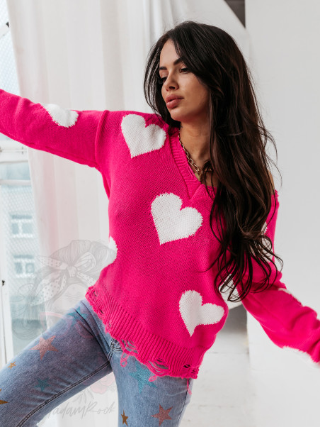 Sweter w serca True Love...