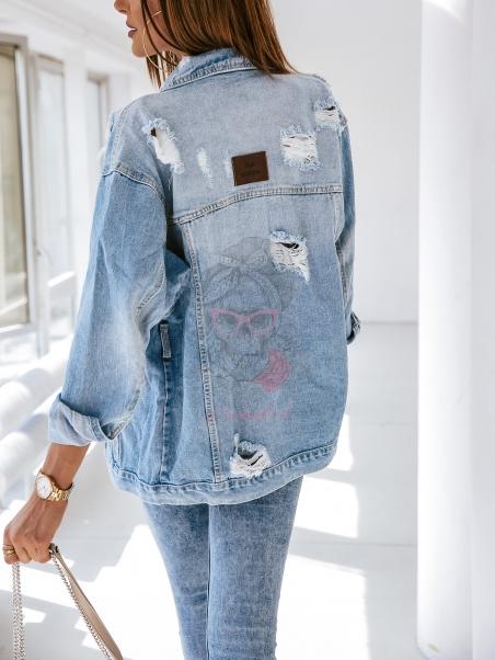 Katana jeansowa przecierana...