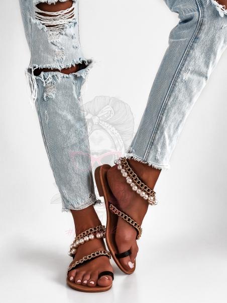 Sandały płaskie Madam Coral...