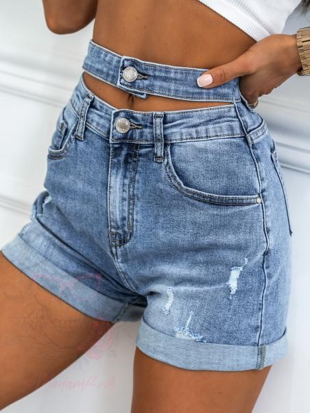 Szorty jeansowe z paskiem...