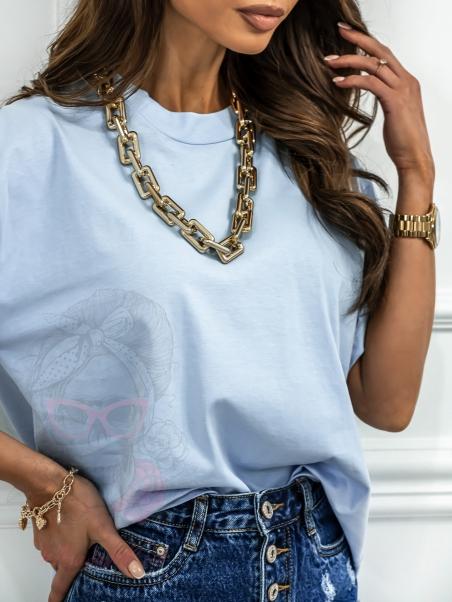 T-shirt z łańcuchem Magenta...