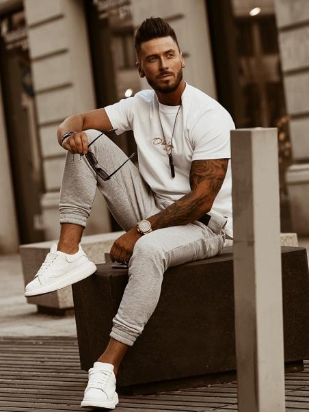 Spodnie bawełniane męskie...