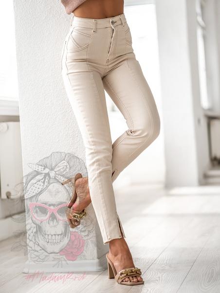 Spodnie jeansowe rurki z...