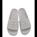 Sandały szare z cyrkoniami
