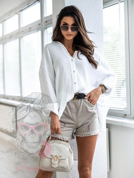 Koszula oversize Italia biała