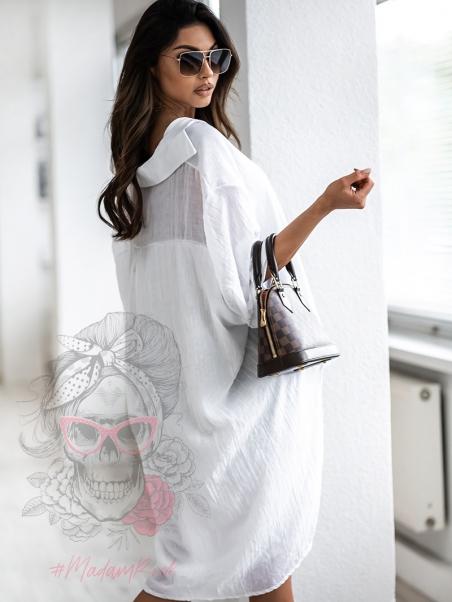 Koszula oversize Double biała