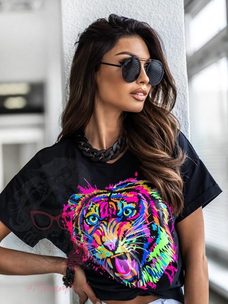 T-shirt z tygrysem Colori...