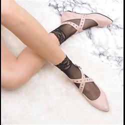Bordowe welurowe sandały kokardki