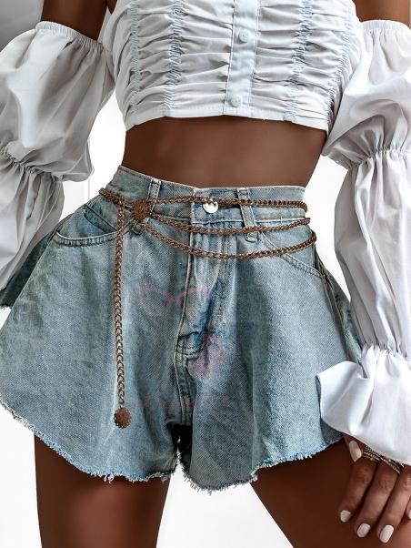 Spodenki jeansowe Overskirt...