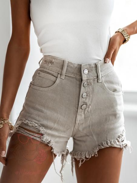 Szorty jeansowe Figura khaki