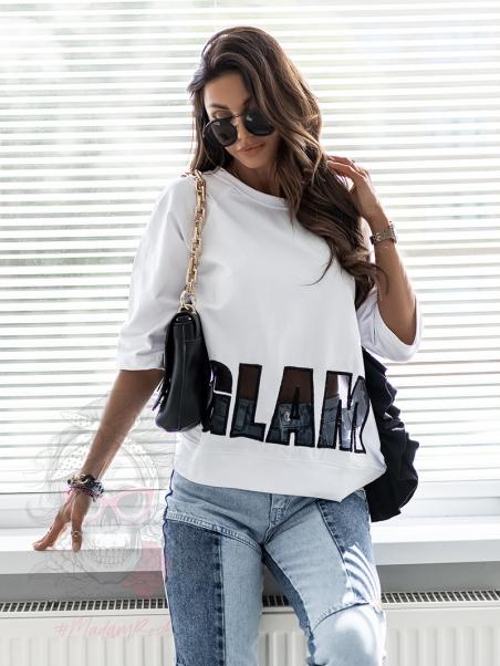 Bluzka Rock Glam biała