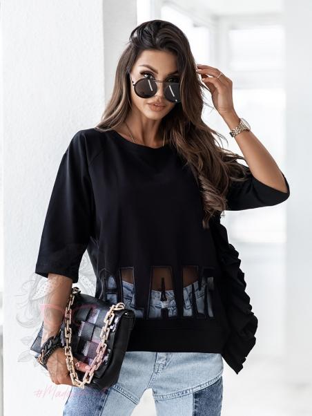 Bluzka Rock Glam czarna