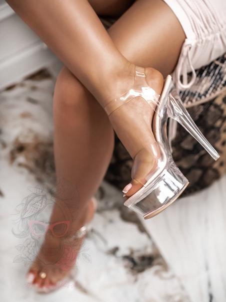 Sandały transparentne...