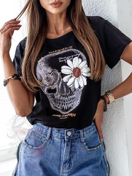 T-shirt z czaszką Rock...