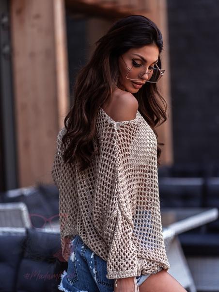 Sweter ażurowy Breeze złoty