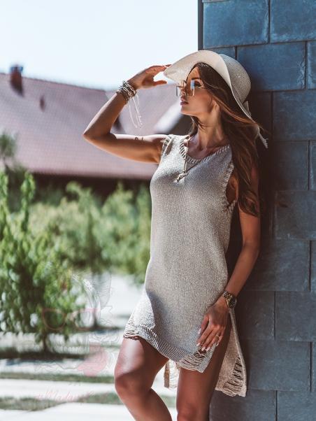 Sukienka mini Secrets złota