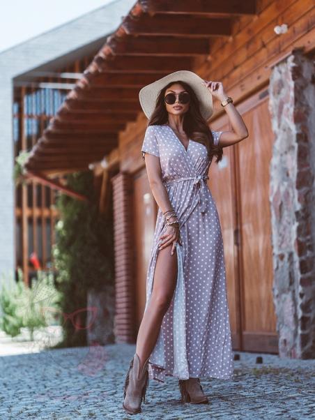 Sukienka maxi w groszki...