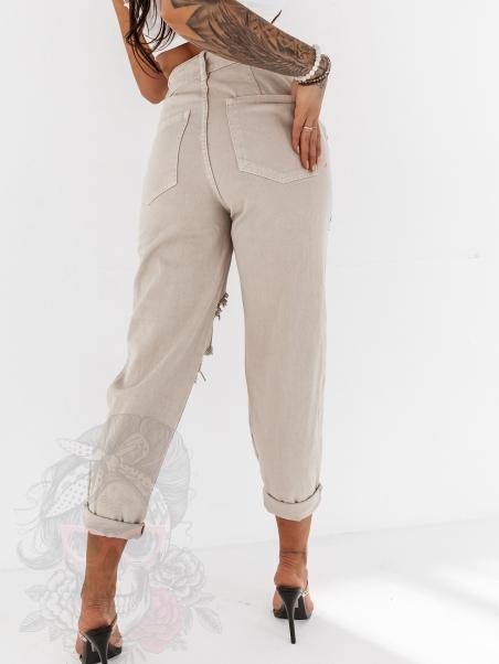 Spodnie boyfriend Manero khaki