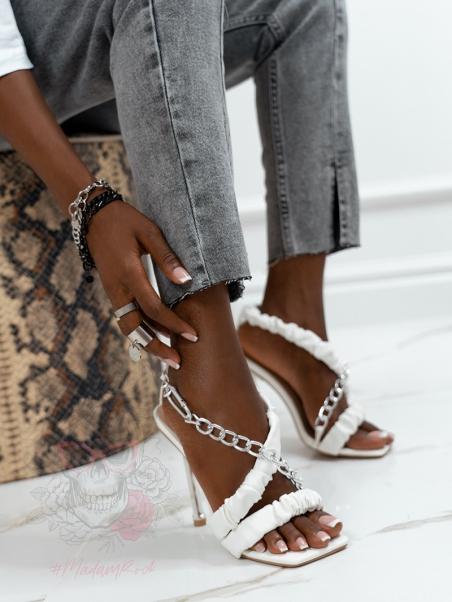 Sandały z łańcuchem Rock...