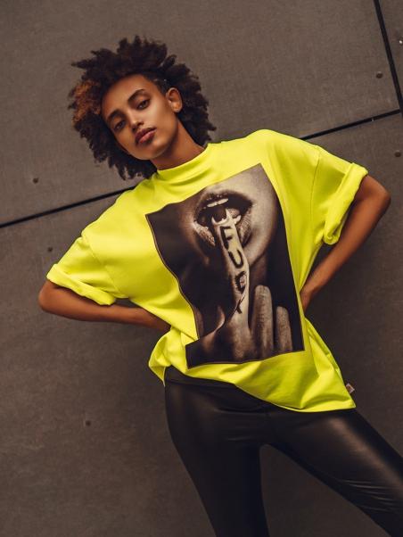 T-shirt z nadrukiem Autumn...