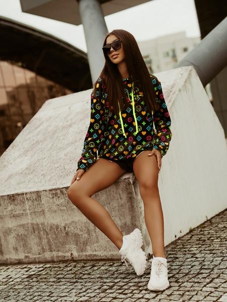 Bluza we wzory Neon Print...
