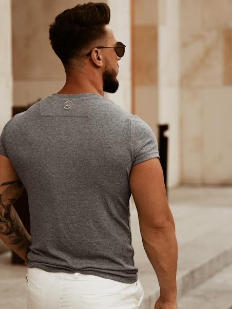T-shirt męski Luxury Man szary