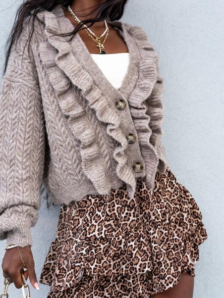 Sweter z falbankami Allice...
