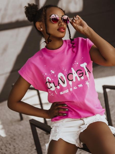 T-shirt bawełniany G.O.A.T...