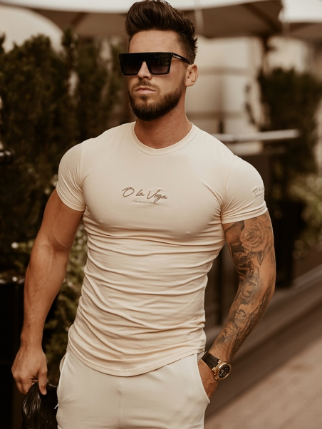 T-shirt męski dopasowany...