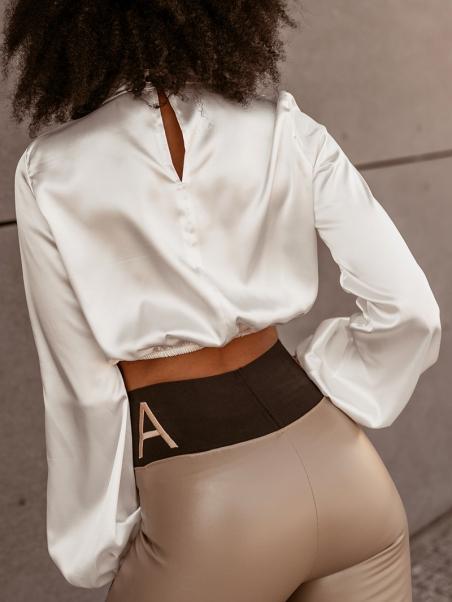 Bluzka elegancka satynowa...