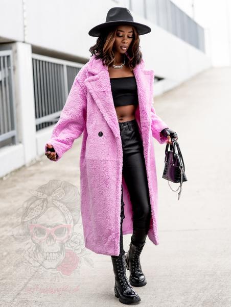 Płaszcz z misia Teddys różowy