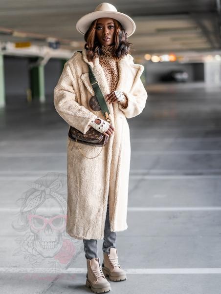 Płaszcz z misia Teddys beżowy