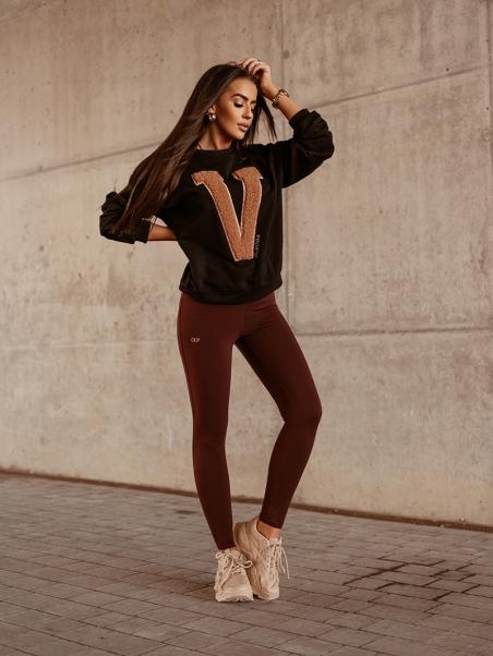 Bluza bawełniana Big V czarna