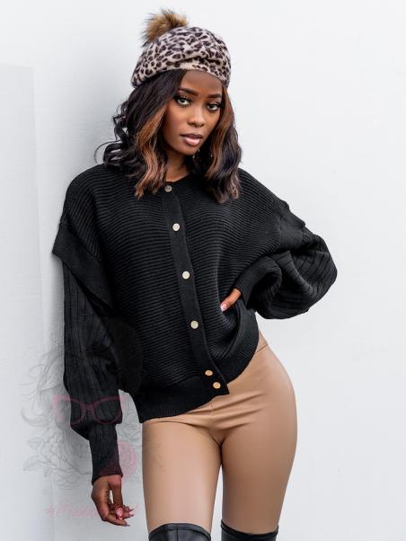 Sweter oversize Cachet czarny