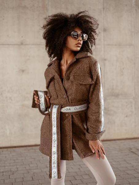 Płaszcz wiązany Logo Coat...