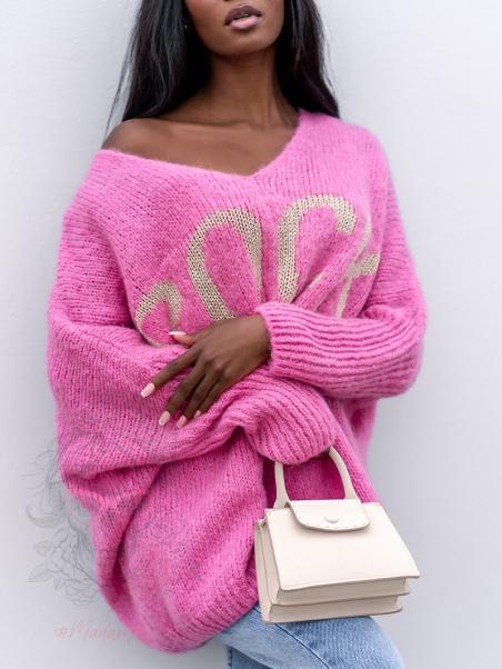 Sweter oversize MyRock różowy