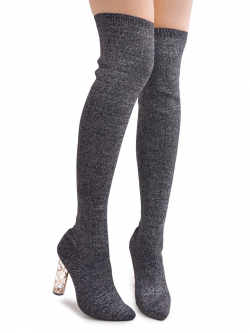 Kozaki Long Socks Silver
