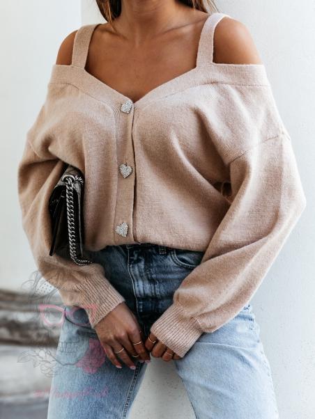Sweter z odkrytymi...
