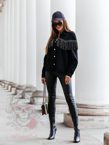 Koszula jeansowa Yetsy czarna