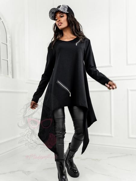 Bluza asymetryczna Long czarna