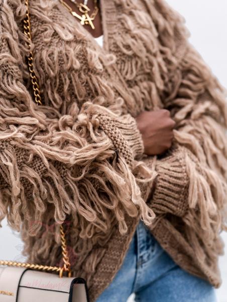 Sweter z frędzlami Marshi...