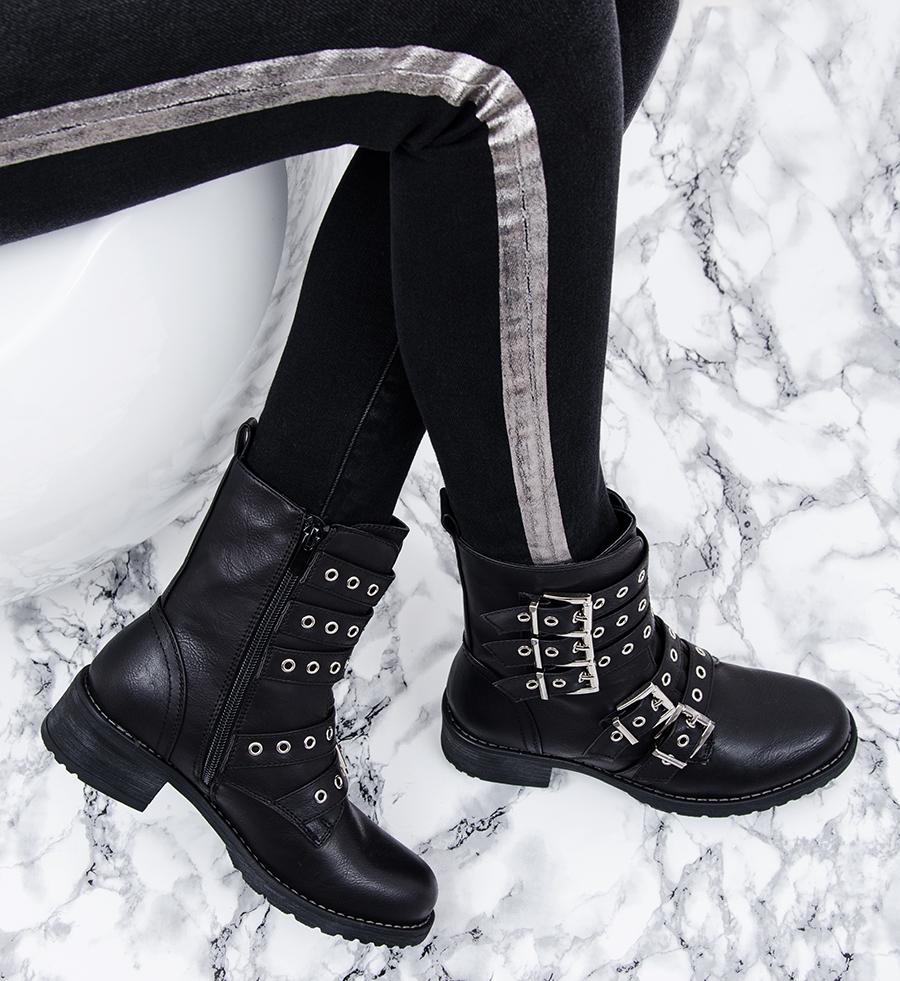 Czarne sandały damskie Madam Boho